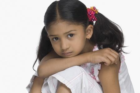 Portrait of a sad girl Stock Photo