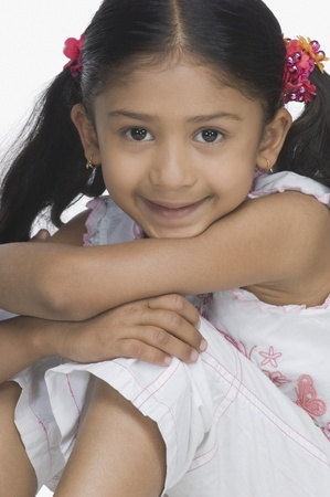 Portrait of a girl smirking Stock Photo - 10124916