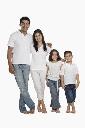 indian subcontinent ethnicity: Parents with their children going for vacations