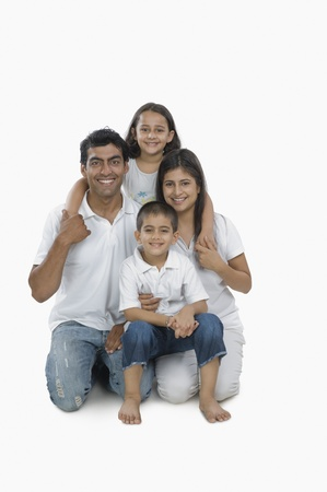 indian subcontinent ethnicity: Portrait of a happy family