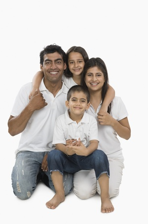 indian hair: Portrait of a happy family