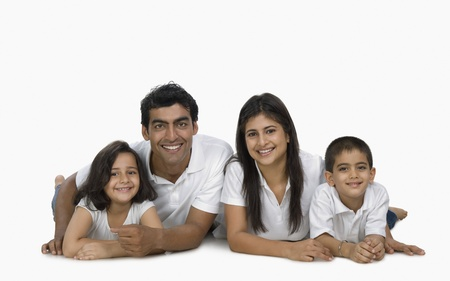 Portrait of a happy family Stock Photo - 10124141