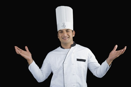 Portrait of a chef smiling Stock Photo - 10125859