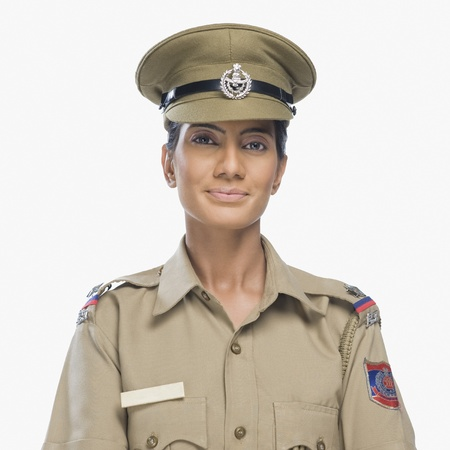 Female police officer smiling Stock Photo - 10169227