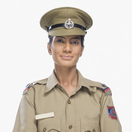 Female police officer smiling Stock Photo - 10169227