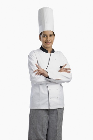 웃는 여성 요리사의 초상화