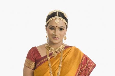 미소 남쪽 인도 여자