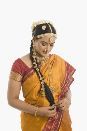 South Indian woman in traditional clothing Stock Photo - 10166441