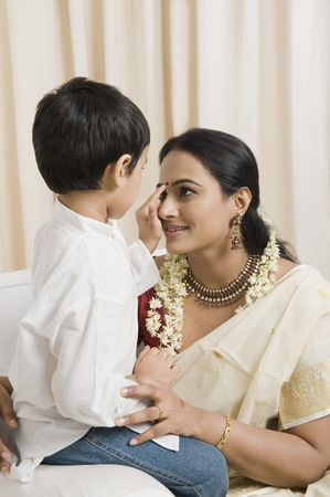 Woman loving with her son at home Stock Photo - 10169182