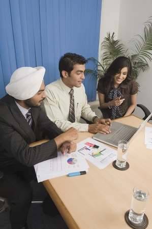 Business executives having a meeting in an office Stock Photo