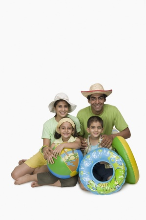 Portrait of a family enjoying on vacations Stock Photo
