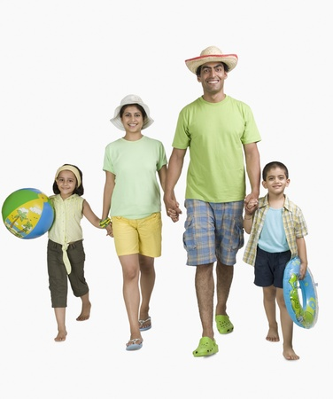 Portrait of a happy family enjoying on vacations Stock Photo - 10124154