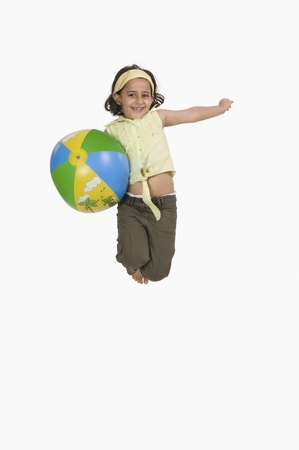 Portrait of a girl playing with a ball Stock Photo - 10123847