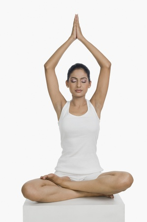 Woman practicing yoga Stock fotó