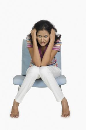 Ritratto di una donna alla ricerca depresso Archivio Fotografico - 10124025