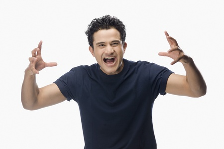 Portrait of a man screaming Stock Photo - 10125593