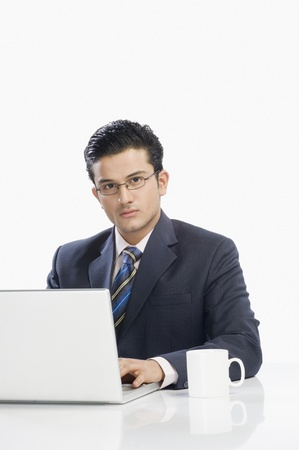 Businessman working on a laptop Stock Photo - 10125384