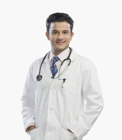 Portrait of a doctor smiling Stock Photo - 10124192
