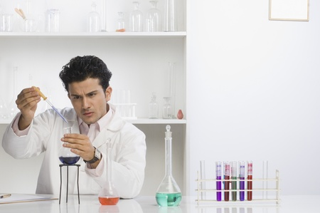 gurgaon: Scientist experimenting in a laboratory