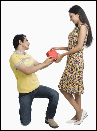 Man proposing to a woman Stock Photo - 10124524