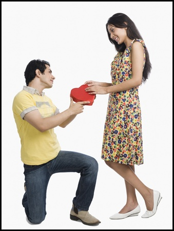 Man proposing to a woman Stock Photo - 10124598