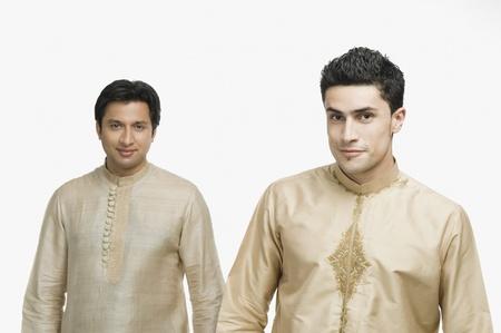 kurta: Portrait of two men smiling LANG_EVOIMAGES