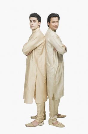 kurta: Two men posing with arms crossed