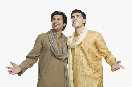 kurta: Two friends smiling together