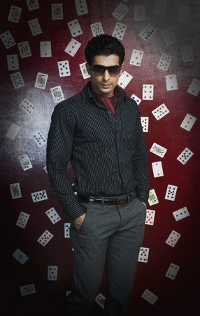 Man standing in a casino Stock Photo - 10169082