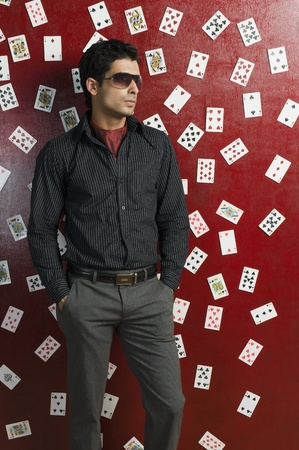 Man standing in a casino Stock Photo - 10166696