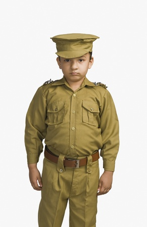 Girl dressed as a police officer