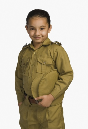 Girl dressed as a police officer Stock Photo - 10169492