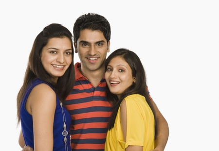 Portrait of three friends smiling Stock Photo - 10125142