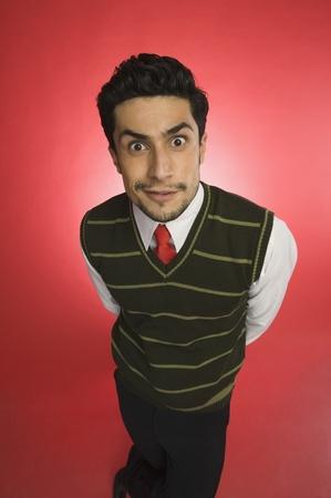 Portrait of a businessman looking shocked Banque d'images