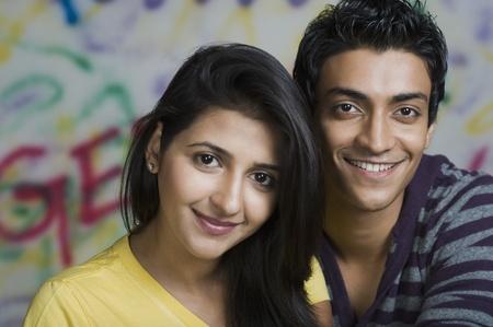 indian couple: Portrait of a couple smiling