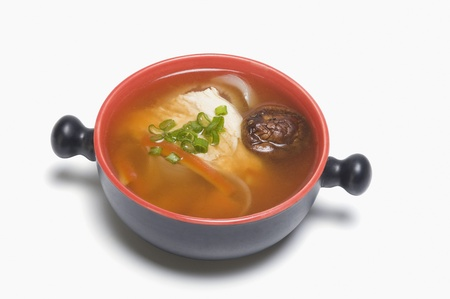 Close-up of Chinese mushroom soup in a pan Stock Photo - 10168846