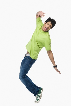 crazy man: Man dancing