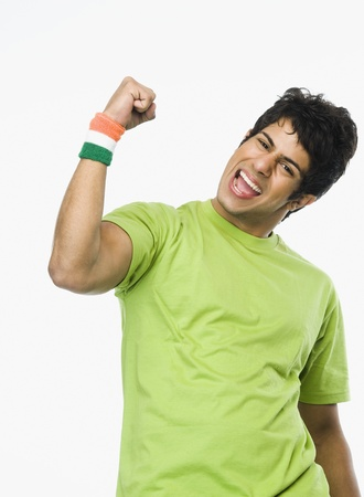 Portrait of a man clenching fist Stock Photo - 10168262