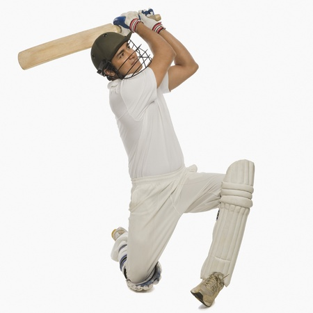 batsman: Cricket batsman playing a cover drive