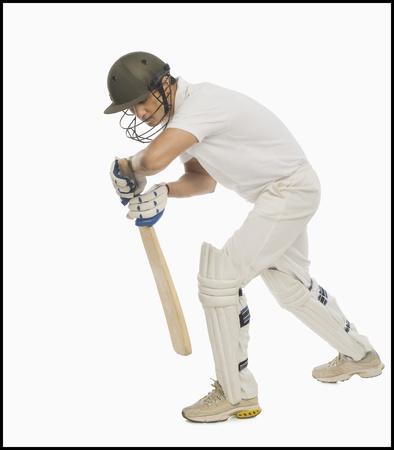 védekező: Batsman előre védekező állást