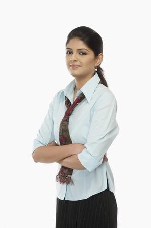 uniform skirt: Portrait of a female flight attendant LANG_EVOIMAGES
