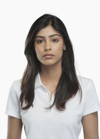 Portrait of a woman looking serious Standard-Bild