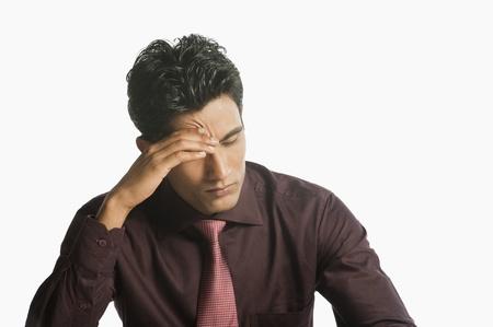 Close-up d'un homme d'affaires cherche bouleversé Banque d'images - 10168710