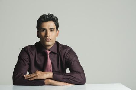 front desk: Portrait of a businessman