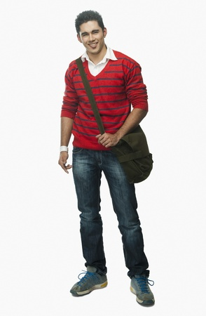 University student carrying a bag