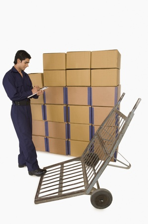 Store incharge checking inventory Stock Photo - 10167162