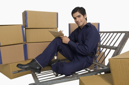 Store incharge checking inventory Stock Photo - 10168124