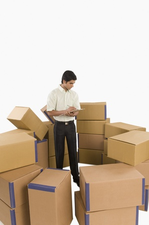 Store incharge checking inventory Stock Photo - 10167032