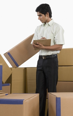 Store incharge checking inventory Stock Photo - 10168361