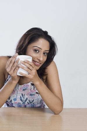 gurgaon: Woman drinking coffee